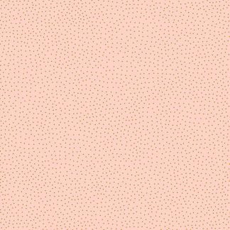Lewis and Irene Forme Tan Dots on Pink Fabric, Bright Quilting