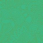 Alison Glass 2020 Sunprint Range Stitched Grasshopper, drawn designs on bright green, Bright Quilting