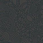 Alison Glass 2020 Sunprint Range Stitched Night, drawn designs charcoal grey, Bright Quilting