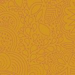 Alison Glass 2020 Sunprint Range Stitched Penny, drawn designs on burnt orange, Bright Quilting
