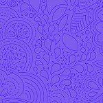 Alison Glass 2020 Sunprint Range Stitched Liberty, drawn designs in mid purple, Bright Quilting