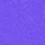 Alison Glass 2020 Sunprint Range Stitched Liberty, drawn designs in mid purple, Bright Quilting