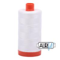 Aurifil 100% Cotton Thread 2021 Natural White, Bright Quilting