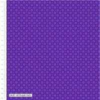 Craft Cotton Makoti Purple Dot Fabric, Bright Quilting