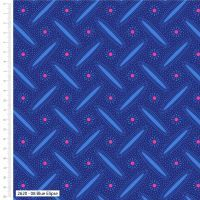 Craft Cotton Makoti Blue Elipse Fabric, Bright Quilting