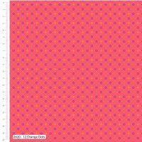 Craft Cotton Makoti Orange Dot Fabric, Bright Quilting