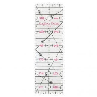"""Crafters Dream 6.5"""" by 2"""" cutting Ruler, Bright Quilting"""