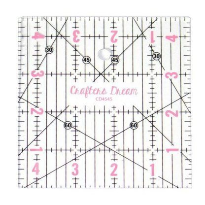 """Crafters Dream 4.5"""" by 4.5"""" cutting square, Bright Quilting"""