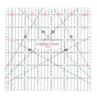 "Crafters Dream 6.5"" by 6.5"" cutting square, Bright Quilting"