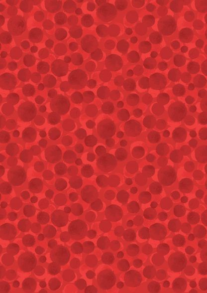 Lipstick Red Bumbleberries Fabric, Bright Quilting