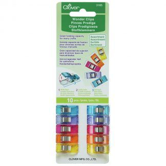 Clover 10 pack of Wonder Clips, Bright Quilting