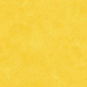 Yellow spotted blender fabric, Bright Quilting