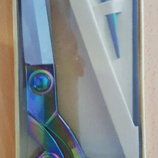 Rainbow Scissor Gift Set 25.5cm Shears, 11.5cm Stork Scissors with Thimble and Pins Bright Quilting