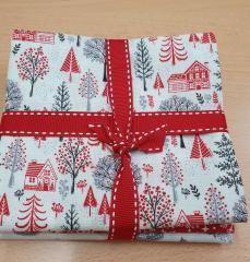 Makower Scandi Christmas 4 piece fat quarter bundle Bright Quilting
