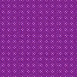 Makower Katie's Cats Range - Pink Spot on Purple Fabric Bright Quilting