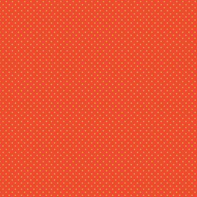 Makower Katie's Cats Range - Yellow Spot on Orange Fabric Bright Quilting