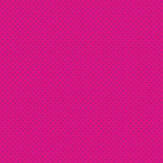 Makower Katie's Cats Range - Purple Spot on Pink Fabric Bright Quilting