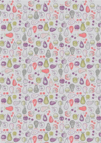 Lewis and Irene Farmers Market Fruit on Light Lavender Fabric Bright Quilting