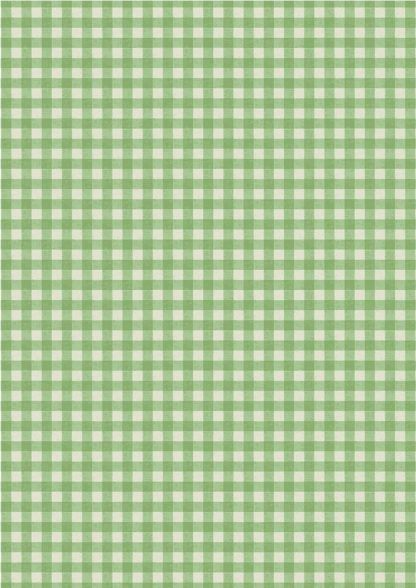 Lewis and Irene Farmers Market Green Rustic Gingham Fabric Bright Quilting