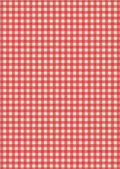 Lewis and Irene Farmers Market Red Rustic Gingham Fabric Bright Quilting