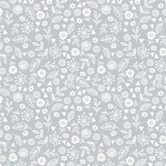 Makower Pewter on White Tone on Tone Doodle Ditzy fabric Bright Quilting