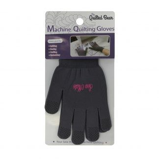 Quilted Bear Grip Tipped Machine Quilting Gloves Bright Quilting