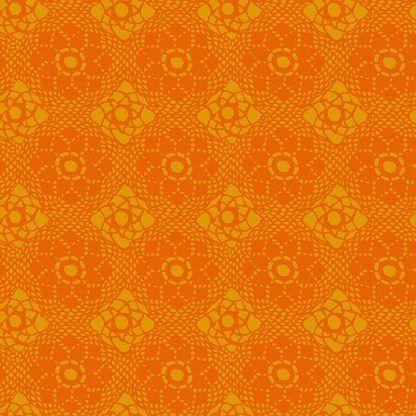 Alison Glass Sunprints 2021 fabrics Crochet Dala Orange fabricBright Quilting