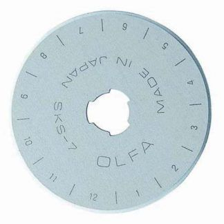 Olfa Replacement 45mm Rotary Blade in a case Bright Quilting