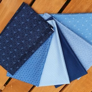 Andover Tonal Ditzy Indigo Blue Fat Quarter Bundle Bright Quilting