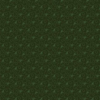 Andover Tonal Ditzy Forest Deep Dark Green Background with Green Ditzy pattern Bright Quilting