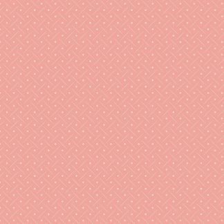 Andover Tonal Ditzy Rouge Pink Background with Off White Ditzy pattern Bright Quilting